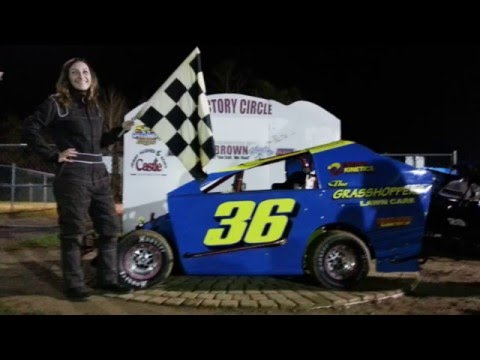 Chloe Andreas Racing #36 - Stage One Modified FEATURE WINNER @ Hamlin Speedway 5/7/16