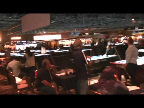 A tour of one of the pool rooms