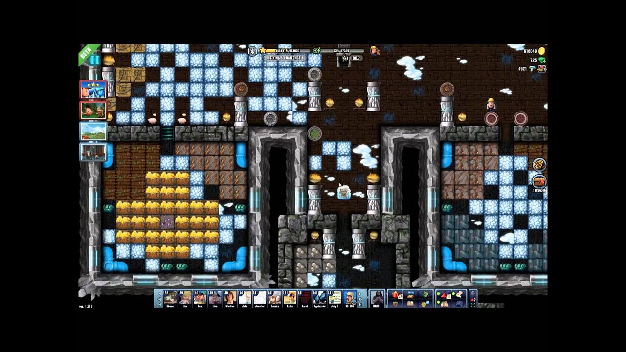 Diggy's Adventure Ice King's Challenge 1 - YouTube