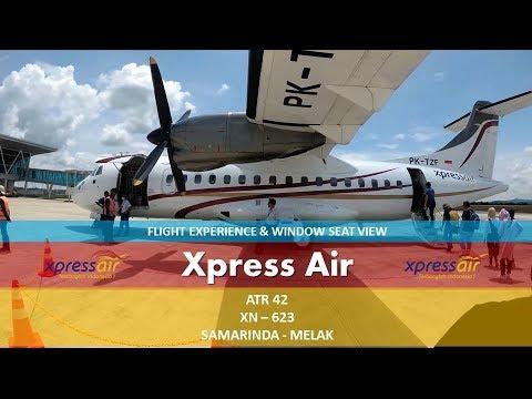 Xpress Air ATR 42 XN623 APT Pranoto, Samarinda - Melalan, Melak Yi 4k+ flight experience