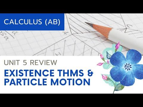Calculus AB Unit 5 Review: Particle Motion