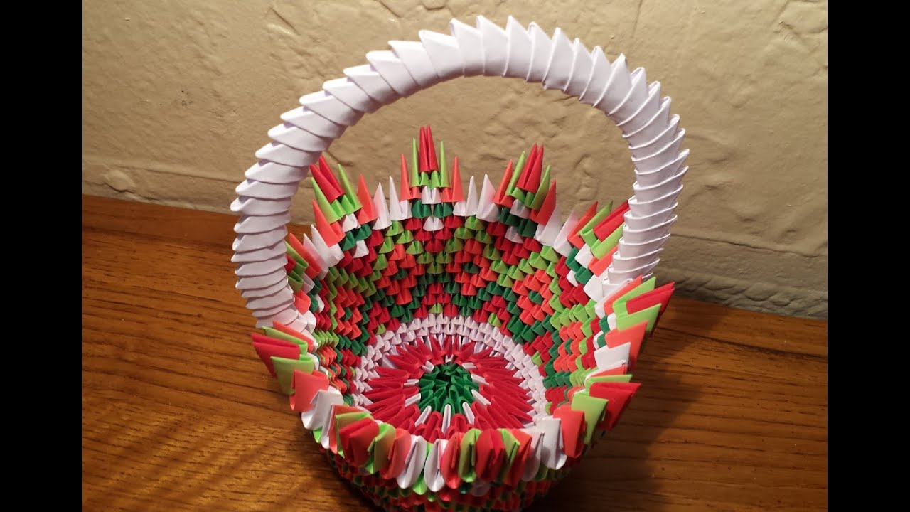 How To Make 3d Origami Basket