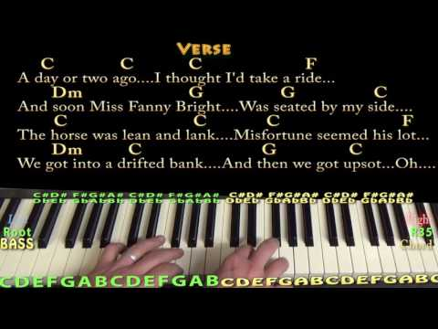 Jingle Bells (Christmas) Piano Cover Lesson in C with Chords/Lyrics