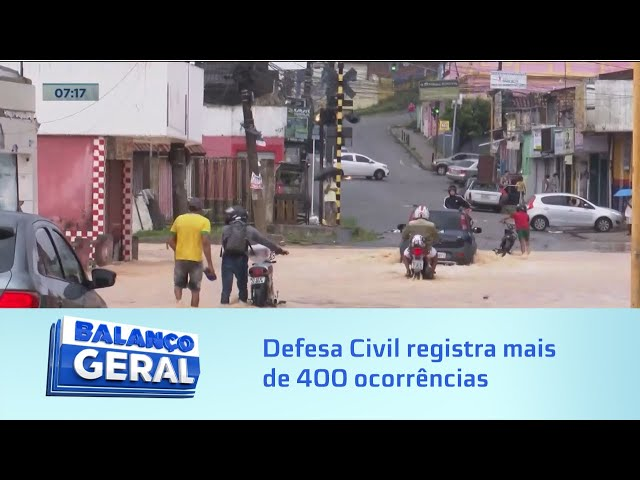 Em Maceió: Mais de 400 ocorrências já foram registradas pela Defesa Civil desde o fim de semana