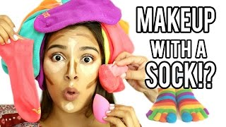 Beauty Busters: Poop or Woop? MAKEUP WITH A SOCK!