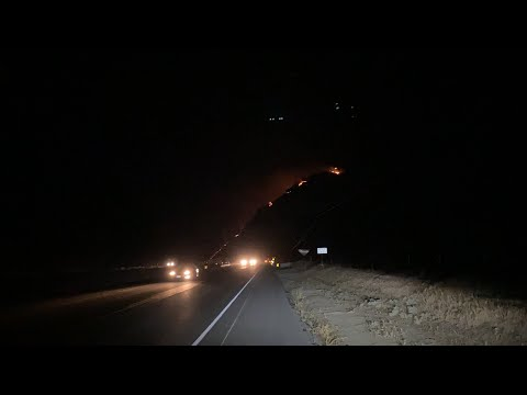 LIVE: FOREST FIRE in Sierra Nevada Mountains at Kern River Canyon Entrance