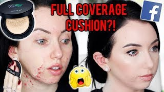 TATTOO COVER CUSHION FOUNDATION?! {First Impression Review & Demo!} Acne/Pale Skin