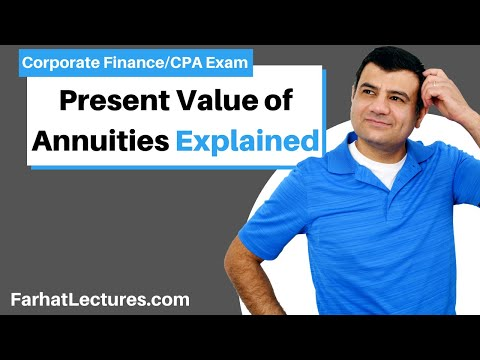 Present value of annuities corporate finance ch 6 p 3