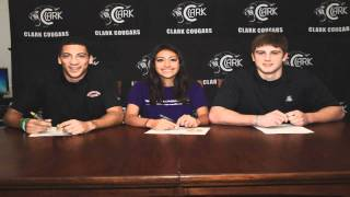 Briana Saldana - Tom C Clark Siging Day 2012 - Clark Cougars