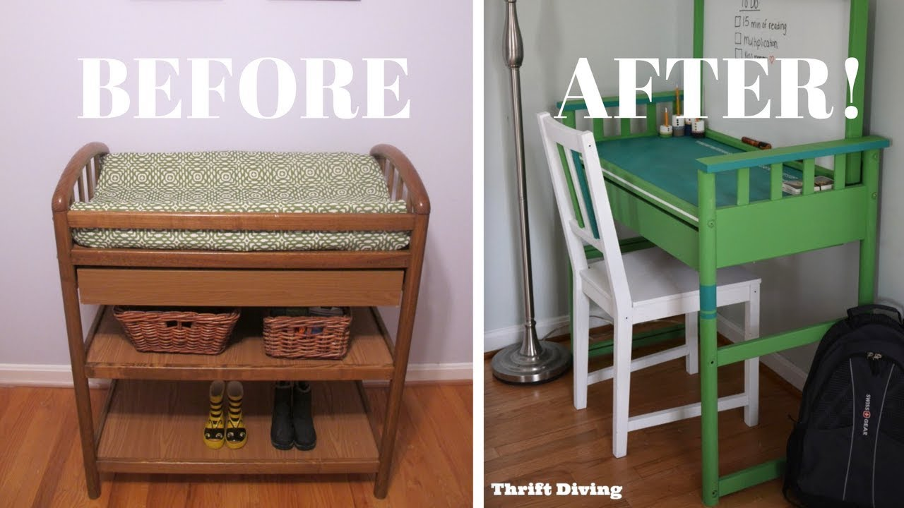 I Repurposed A Changing Table Into A Desk Furniture Makeovers