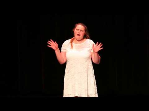 Teenager belts out Some Things Are Meant to Be from Little Women