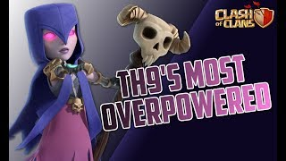 BEST TH9 3 STAR ATTACK STRATEGY   BoWitch & Witch Slap   Clash of Clans