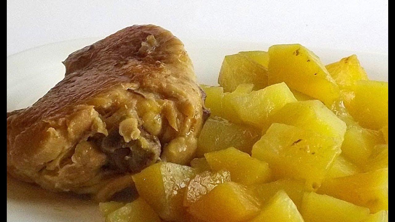Курица с Картофелем в Соевом Соусе в Мультиварке кулинарный видео рецепт