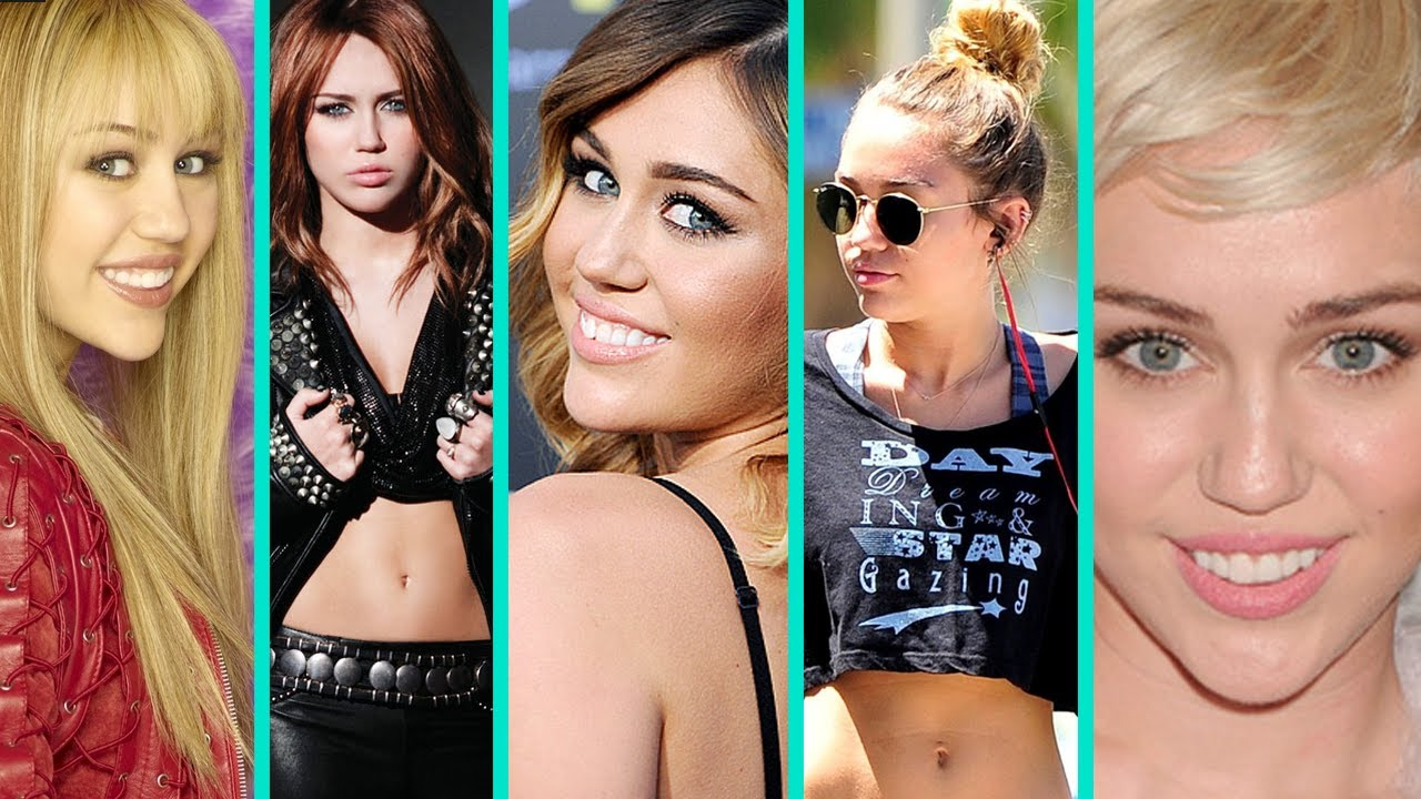 miley cyrus style evolution from hannah montana to bangerz youtube