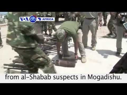 AMISOM troops claim to have captured weapons from al-Shabab suspects. VOA60 Africa 07-28-14