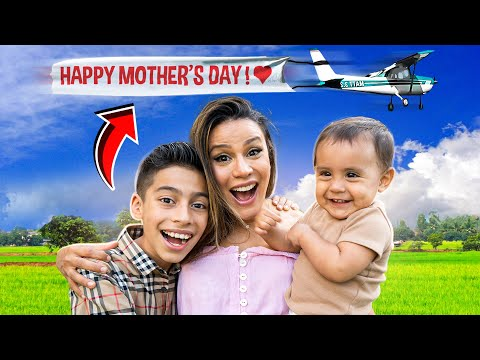 The Best MOTHER'S DAY GIFT Ever!! (AIRPLANE SURPRISE) | The Royalty Family