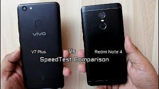 Vivo V7 Plus Vs Redmi Note 4 SpeedTest Comparison I Hindi