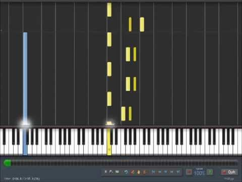 Dream On Aerosmith Easy Piano Tutorial In Synthesia 100 Speed