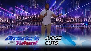 Preacher Lawson: Comedian Hilariously Describes Being Catfished Online - America's Got Talent 2017