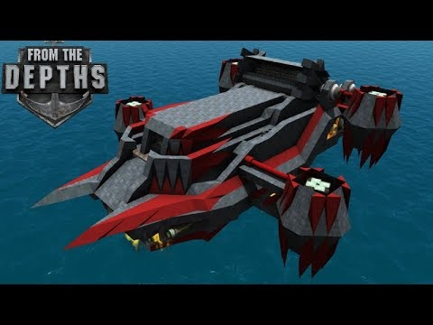Missile Artillery Airship - New Swarm AND Large Missiles!   From The Depths Gameplay