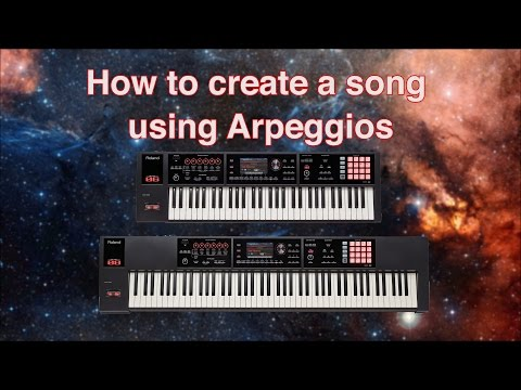 Roland FA-06/08 - How to create a song with Arpeggios