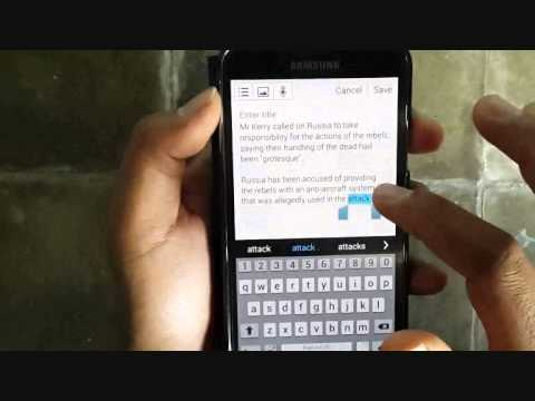 Samsung Galaxy S5  How to Cut and Paste (Android Phone) - YouTube