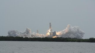 STS-135 Space shuttle Atlantis launch at Kennedy Space Center KSC on final NASA shuttle mission