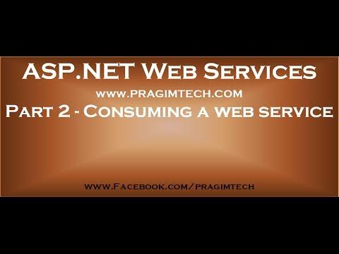 Part 2   Consuming a web service