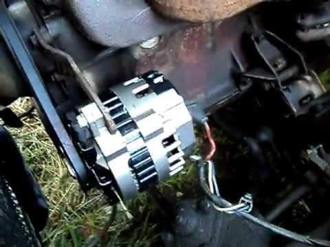 105amp Alternator Installed In The 67 Chevelle
