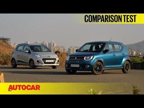 Hyundai Grand i10 vs Maruti Ignis | Comparison Test | Autocar India