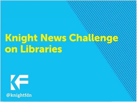 Webinar: 2016 Knight News Challenge on Libraries
