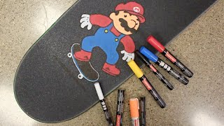 Mario Skating Griptape Art Time Lapse!