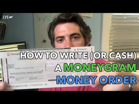 How To Write A MoneyGram Money Order From Walmart