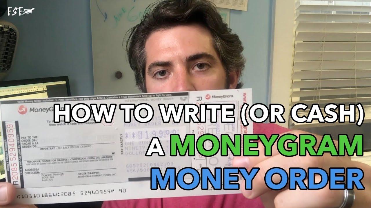 How To Write A MoneyGram Money Order From Walmart