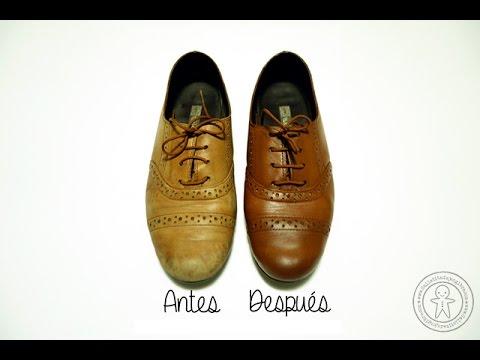 8f32be40 Cómo teñir zapatos de cuero - YouTube