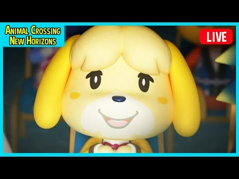 Animal Crossing: New Horizons LIVE 🔴 - FULL GAME Animal Crossing Switch Gameplay