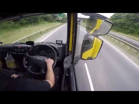 Hairy Trucker Go pro drive along In cab POV.
