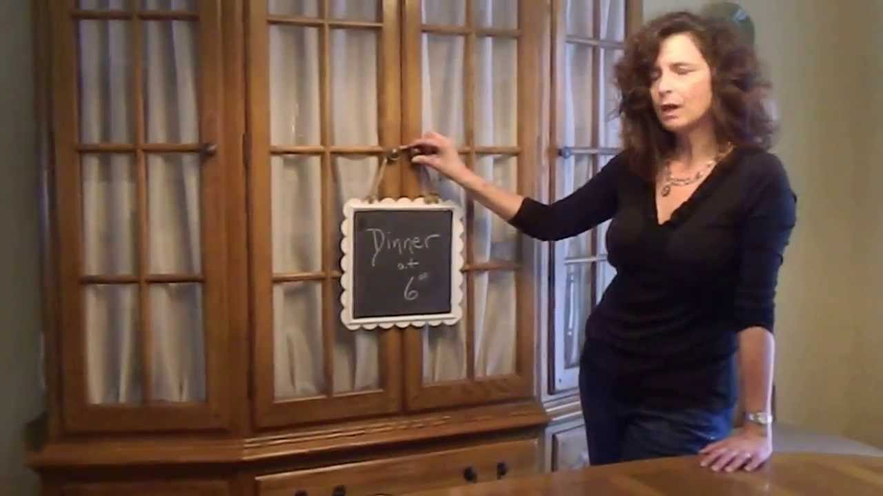 How to Add Fabric Door Panels to a Cabinet - YouTube