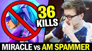MIRACLE knows How to Deal with ANTI-MAGE — 36 Kills No Mercy