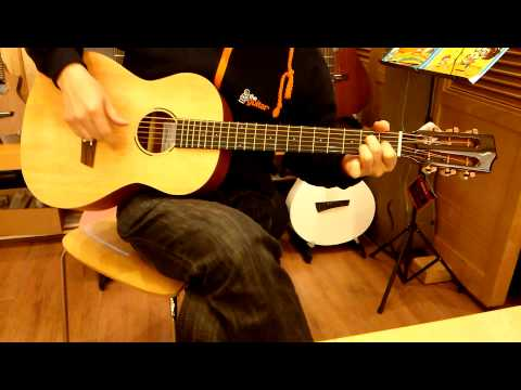 TheGuitar Sole IMS-310 36in. Solid Spruce Top Mini Guitar (Traveling)(Sapele Backside)
