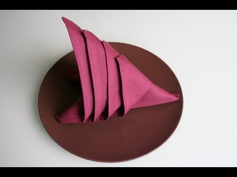 servietten falten segel napkin folding sail youtube. Black Bedroom Furniture Sets. Home Design Ideas
