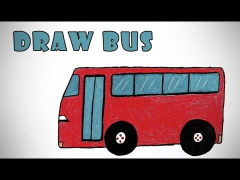 How to Draw a Bus - YouTube Bus Drawing