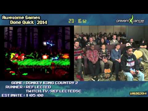 Donkey Kong Country 2 :: SPEED RUN Live (0:46:14) by Reflected #AGDQ 2014