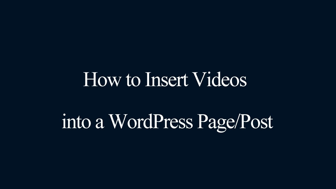 how to change a post into a page in wordpress
