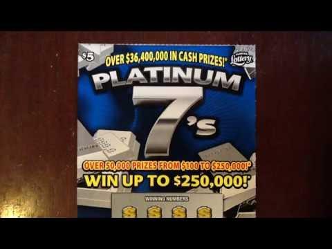 $5 Platinum 7's - FL Lottery - gerry12250