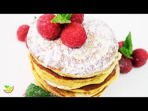 🌴🥞 Coconut Pancakes | Sugar Free | Gluten Free | Flourless | Yo +Green
