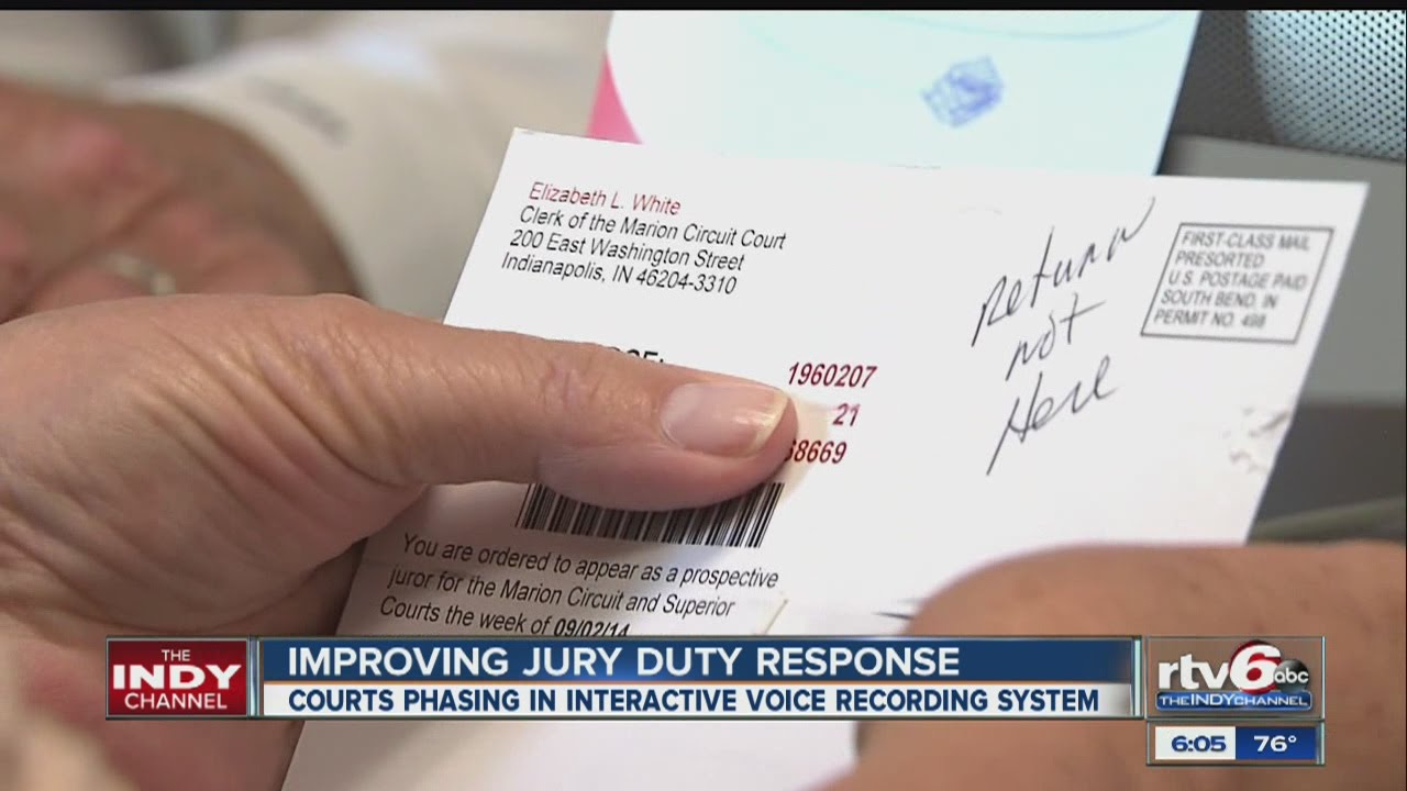 Indiana Marion County Jury Duty Need Info 2019