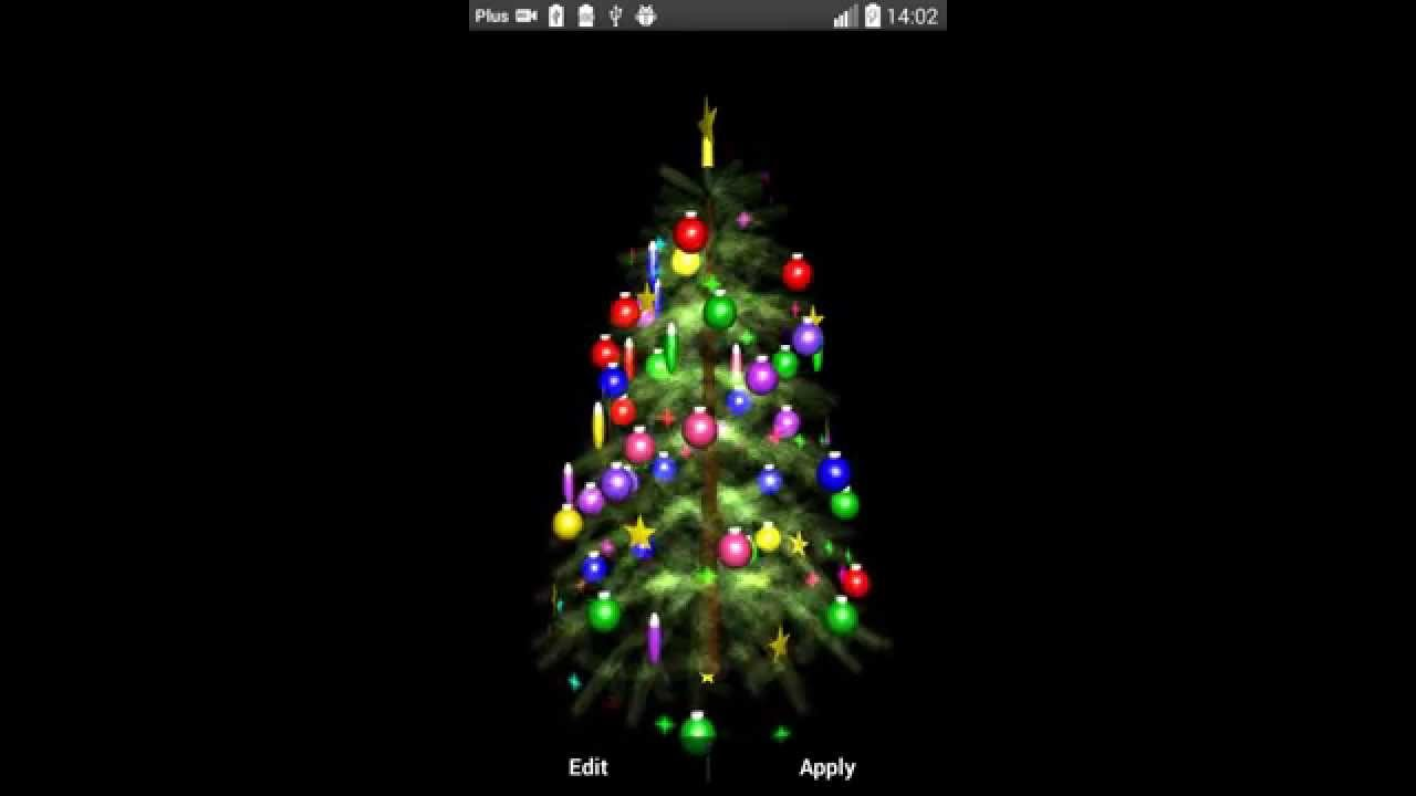 christmas tree 3d wallpaper - youtube