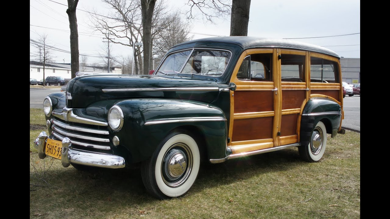 1948 Ford Super Deluxe Woodie Wagon For Sale~Flat V8~Runs & Drives ...