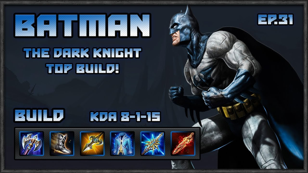Arena Of Valor Batman Best Jungler Build For The Dark Knight